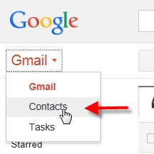 Restaurer ses contacts Gmail