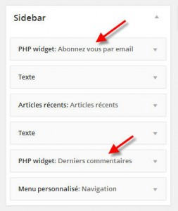 Un widget PHP sur WordPress