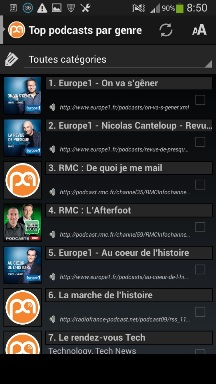 top des podcasts gratuits sur android